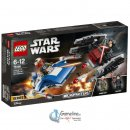 LEGO® 75196 Star Wars: A-Wing vs. TIE Silencer Microfighters