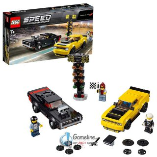 LEGO® 75893 Speed Champions: 2018 Dodge Challenger SRT Demon und 1970 Dodge Charger R/T